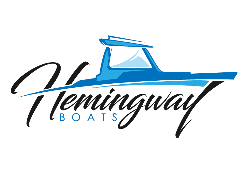 Hemingway Boats logo design by usashi