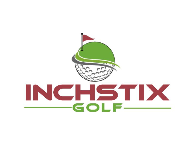 Inchstix Golf logo design by ElonStark