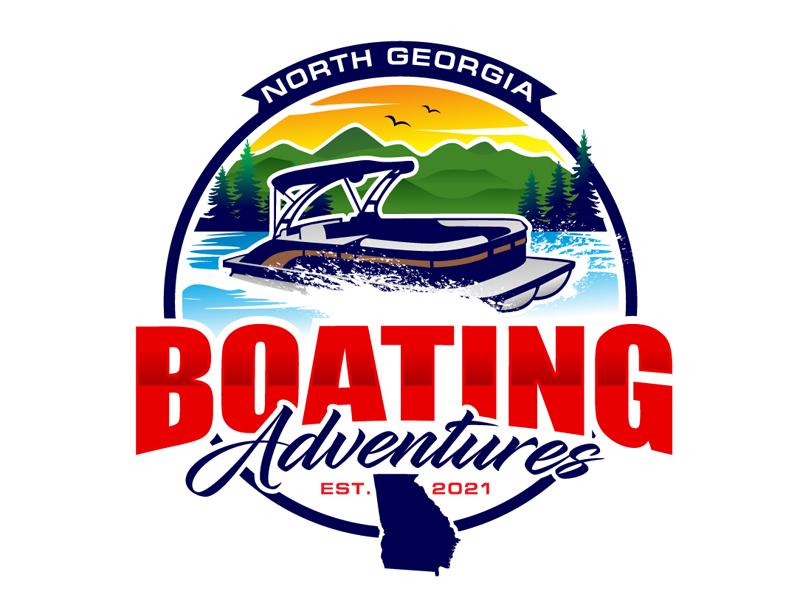 North Georgia Boating Adventures Logo Design