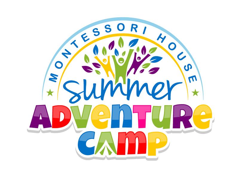 Montessori House Summer Adventure Camp Logo Design