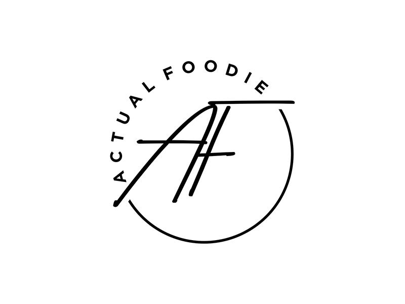 Actual Foodie logo design by ndaru