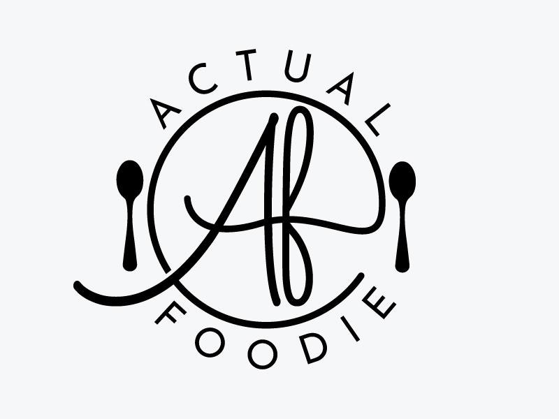 Actual Foodie logo design by Webphixo