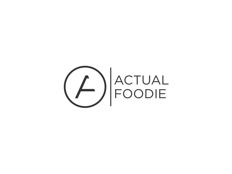 Actual Foodie logo design by Inaya