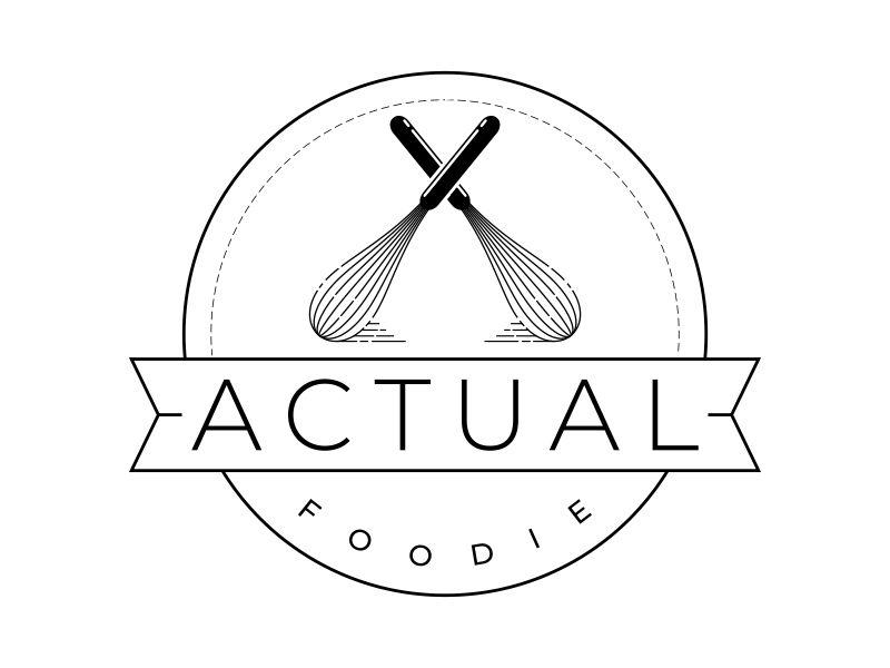 Actual Foodie logo design by mutafailan