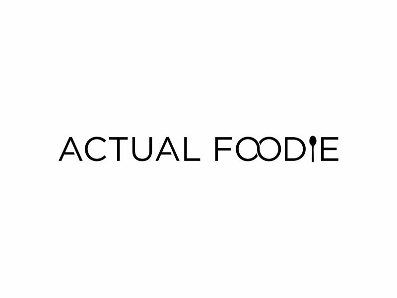 Actual Foodie logo design by hopee