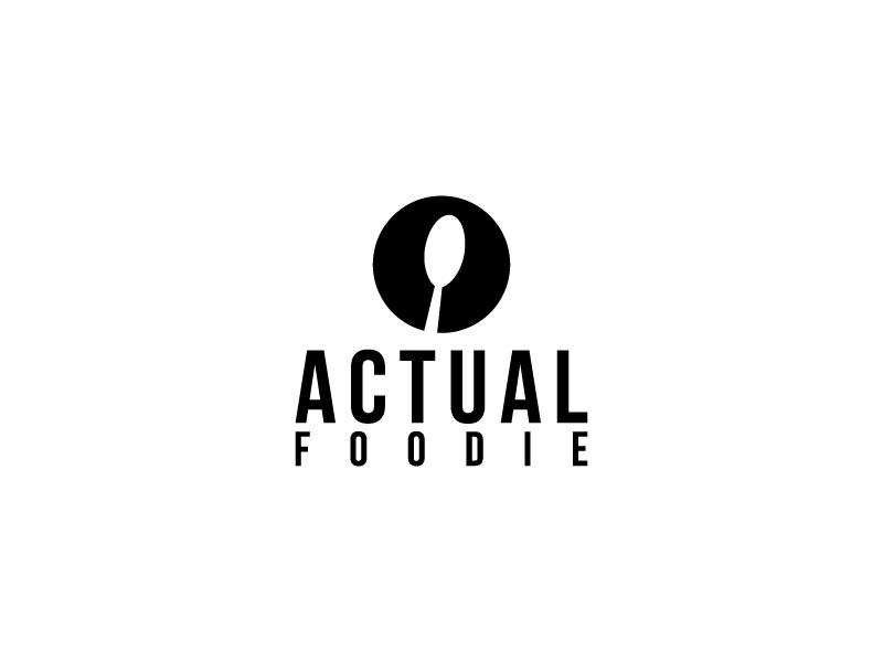 Actual Foodie logo design by Saraswati