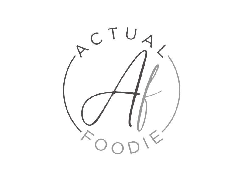 Actual Foodie logo design by Arto moro
