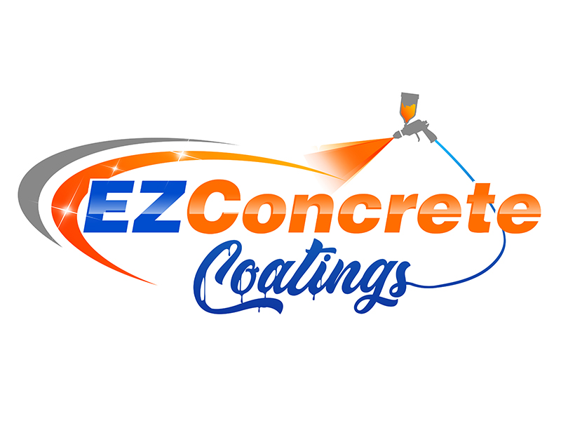 EZ Concrete Coatings logo design by 3Dlogos