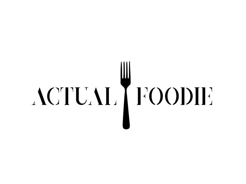 Actual Foodie logo design by serprimero