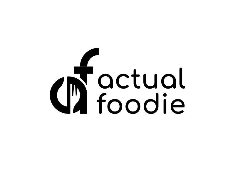 Actual Foodie logo design by noepran