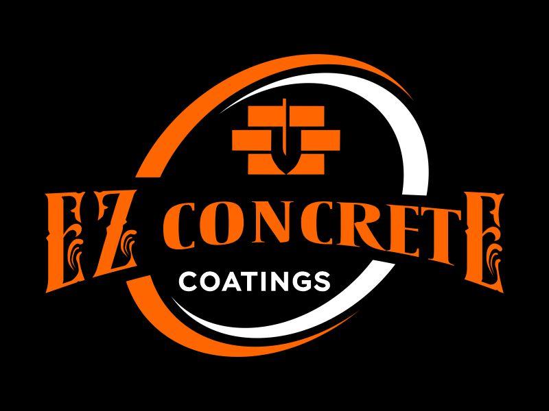 EZ Concrete Coatings logo design by Gwerth