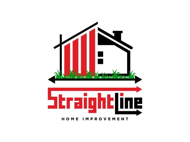 StraightLine Contracting LLC Logo Design