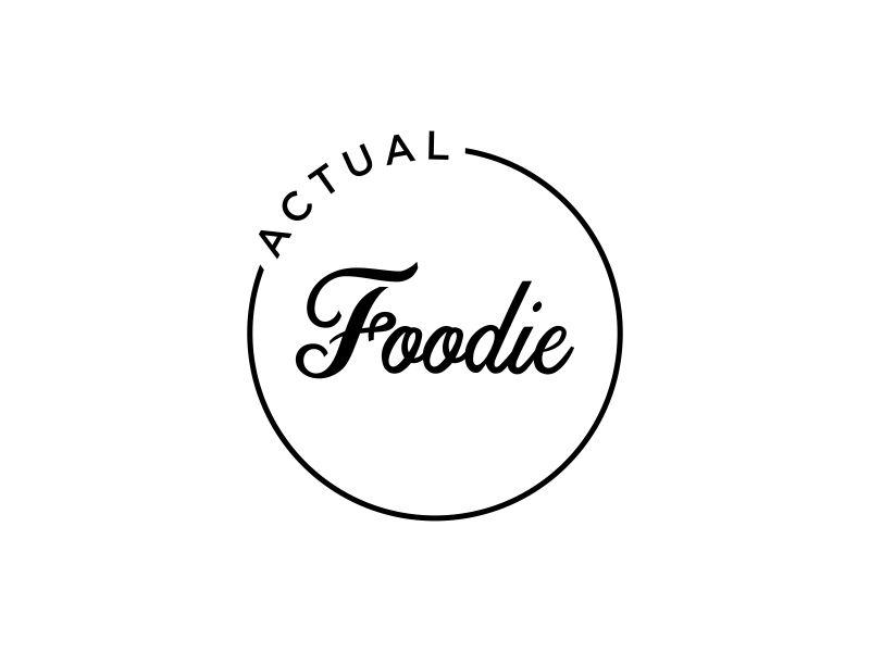 Actual Foodie logo design by zeta