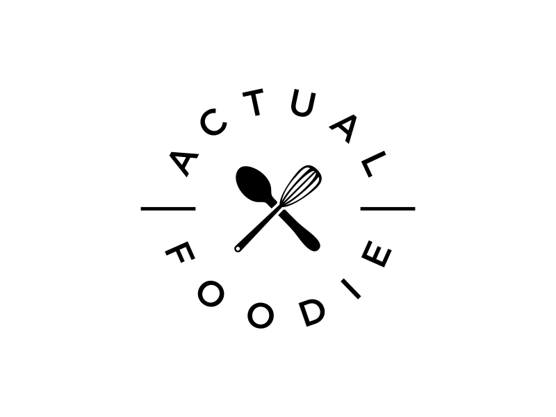 Actual Foodie Logo Design