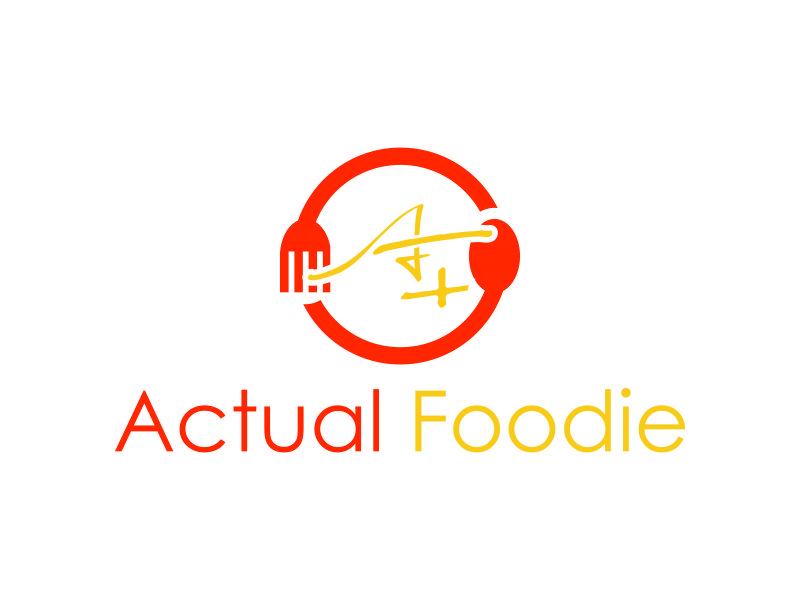 Actual Foodie logo design by menanagan