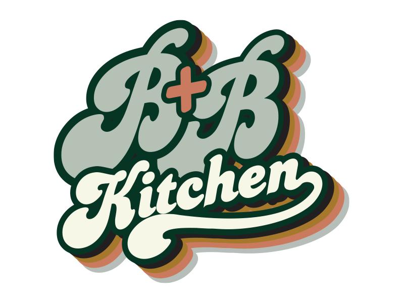 B+B Kitchen logo design by MarkindDesign™