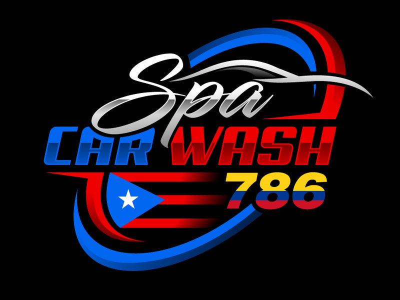 Spa_car_wash_786 Logo Design