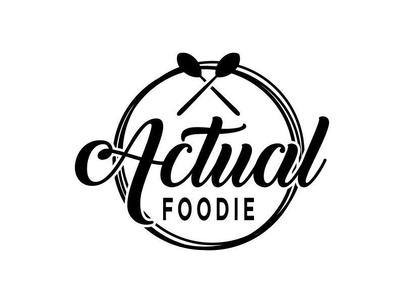 Actual Foodie logo design by aflah