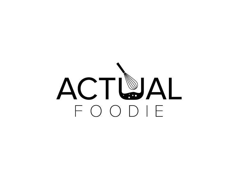Actual Foodie logo design by fritsB