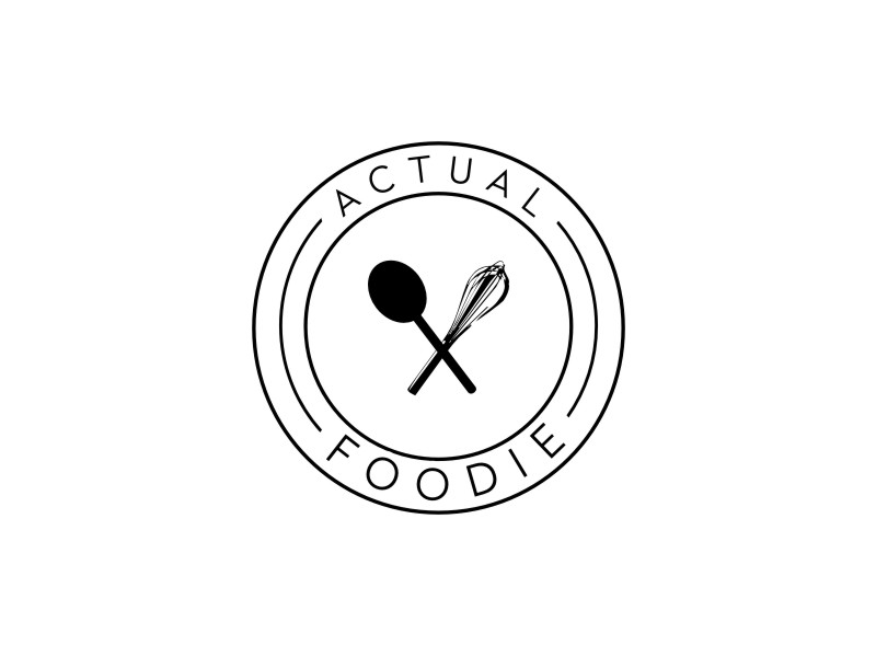 Actual Foodie logo design by andayani*