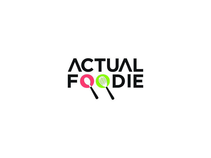 Actual Foodie logo design by FloVal