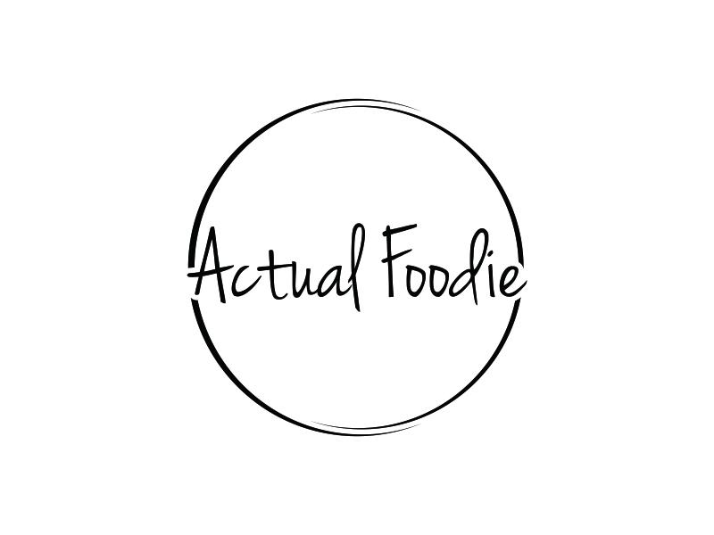 Actual Foodie logo design by pel4ngi