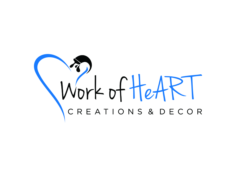 Work of HeART Creations & Decor' logo design by pel4ngi