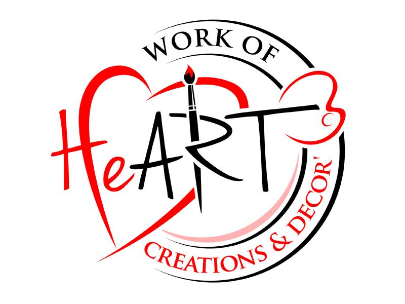 Work of HeART Creations & Decor' logo design by MAXR