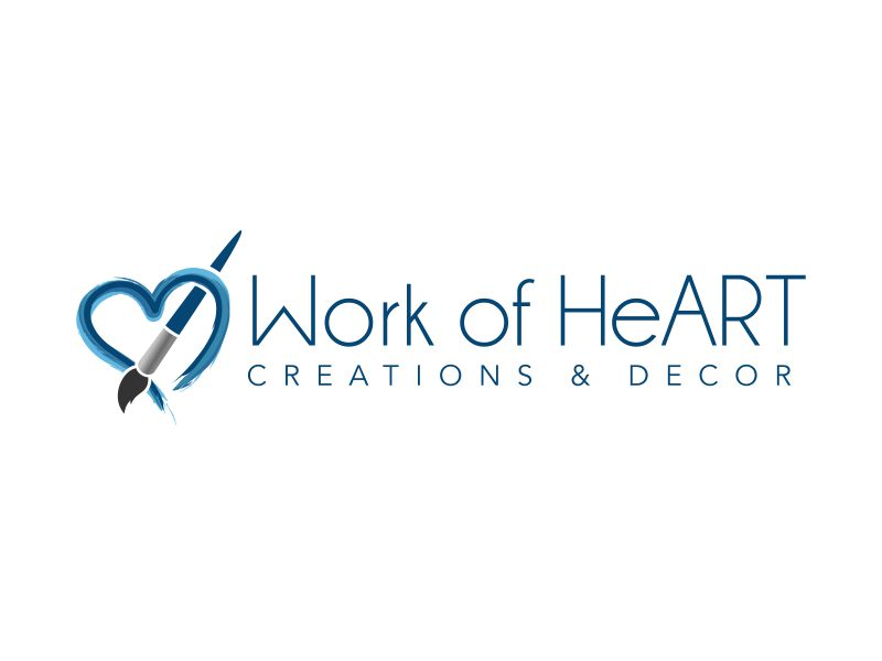 Work of HeART Creations & Decor' logo design by ingepro