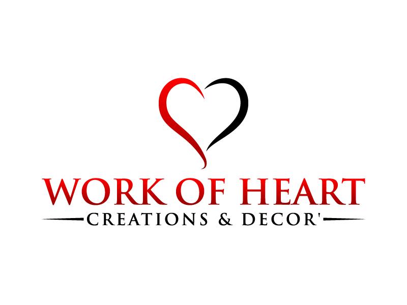 Work of HeART Creations & Decor' logo design by karjen