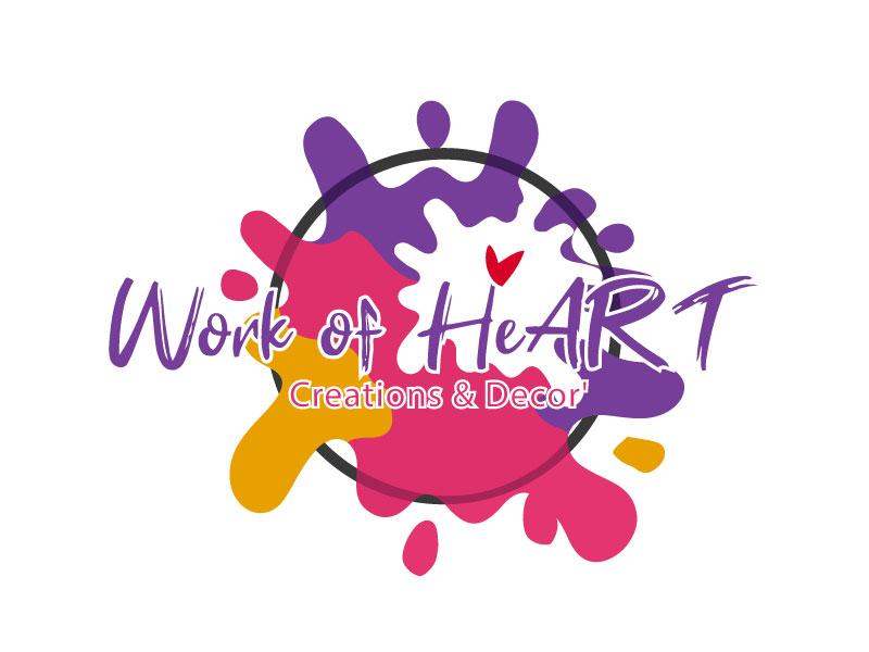Work of HeART Creations & Decor' logo design by ElonStark