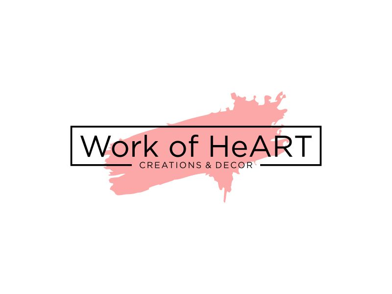Work of HeART Creations & Decor' logo design by p0peye