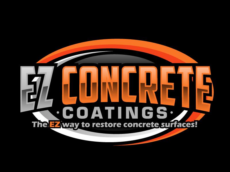 EZ Concrete Coatings logo design by ElonStark