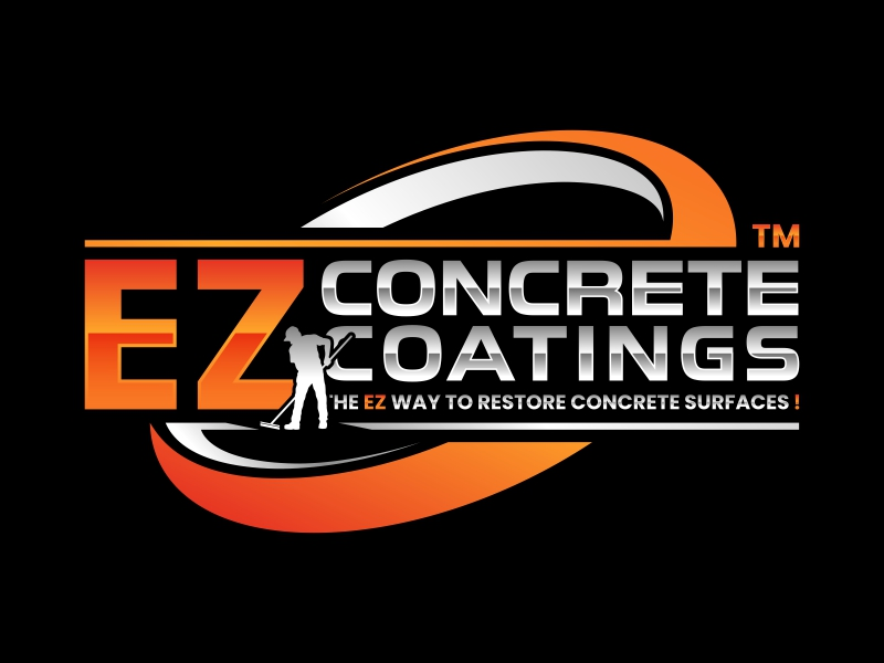 EZ Concrete Coatings logo design by yunda