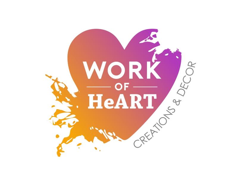 Work of HeART Creations & Decor' logo design by serprimero
