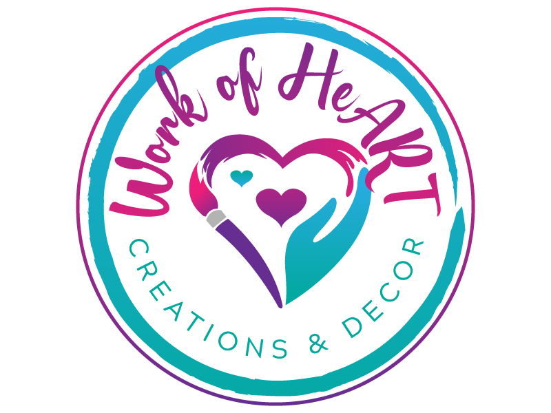 Work of HeART Creations & Decor' logo design by jaize