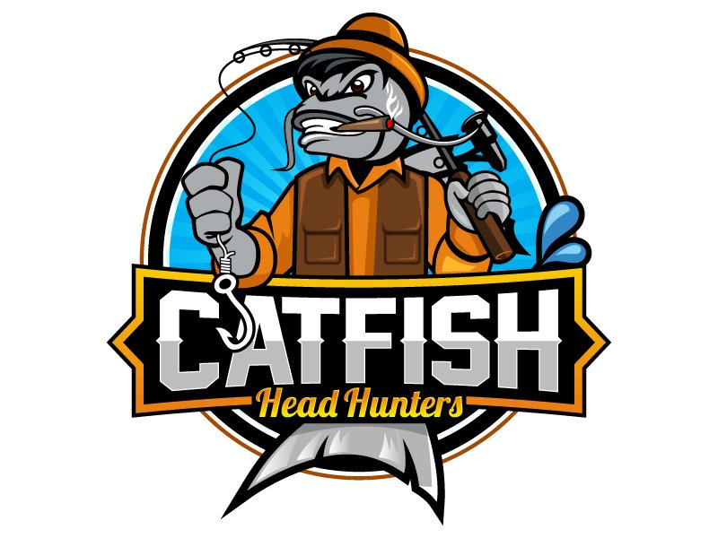 Catfish Head Hunters Logo Design
