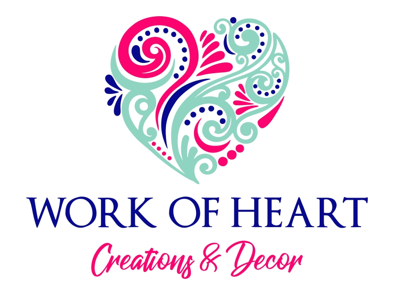 Work of HeART Creations & Decor' logo design by JessicaLopes