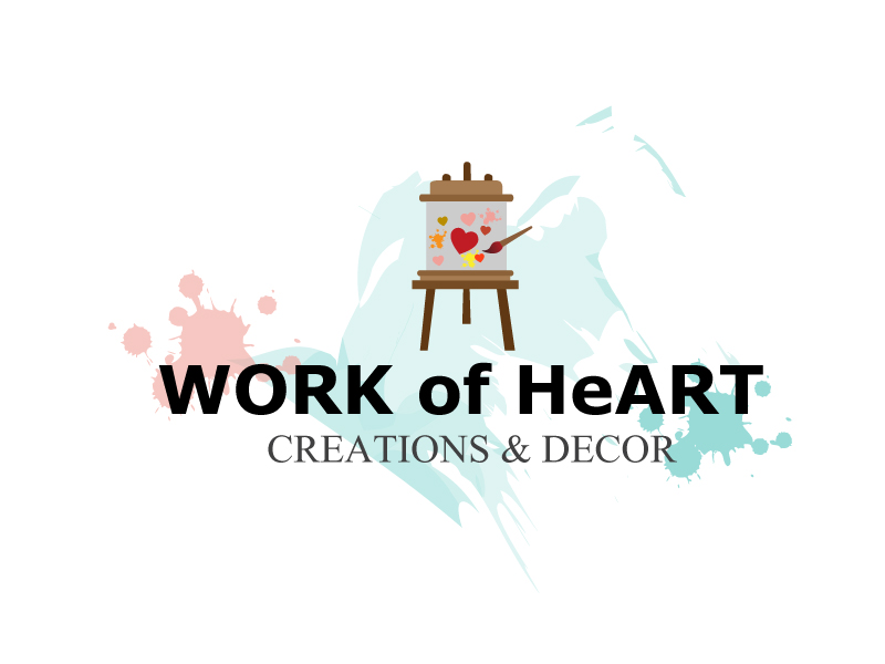 Work of HeART Creations & Decor' logo design by xien