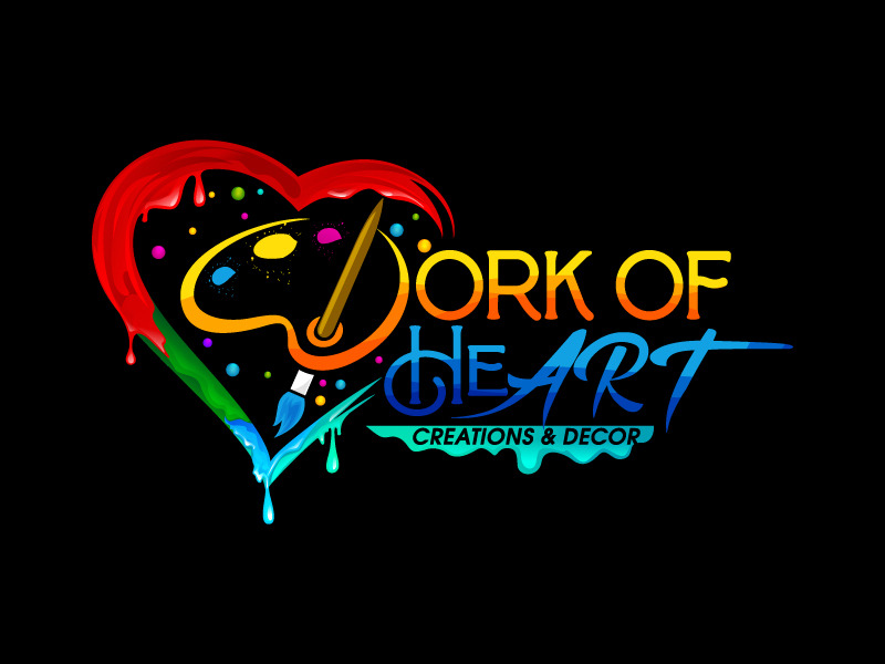 Work of HeART Creations & Decor' logo design by dasigns