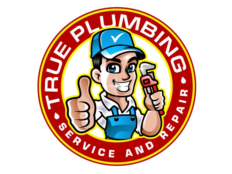 True Plumbing/ True Plumbing Service and Repair Logo Design