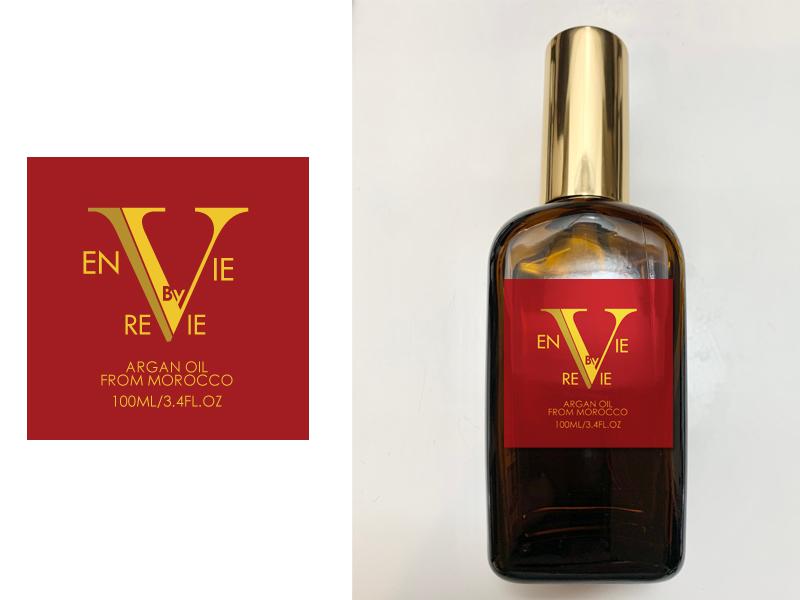 Envie by Revie Argan Oil From Morocco logo design by firebird
