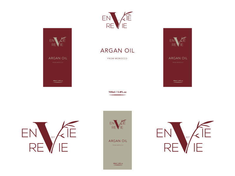 Envie by Revie Argan Oil From Morocco logo design by Hi Cham