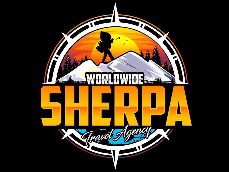Worldwide Sherpa Travel Agency Logo Design