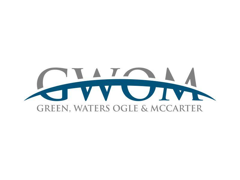 Green, Waters Ogle & McCarter logo design by Humhum