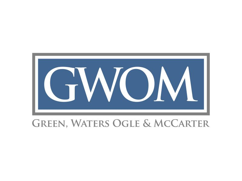 Green, Waters Ogle & McCarter logo design by Lavina