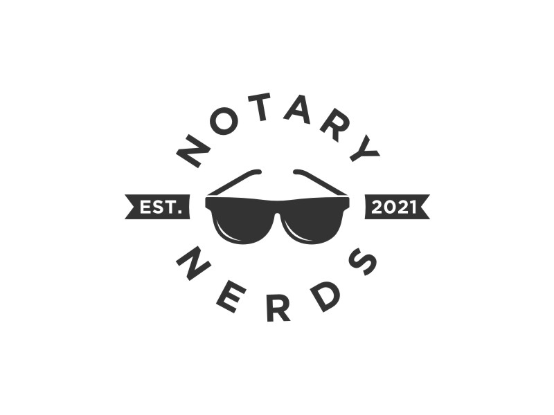 Notary Nerds logo design by bombers