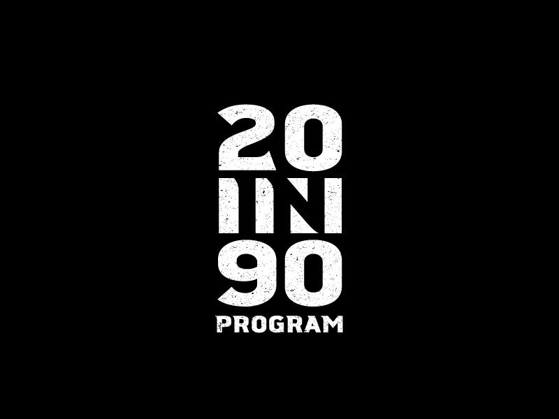20in90 Program logo design by Dawn