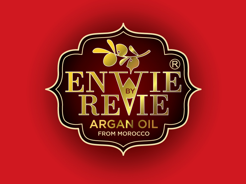 Envie by Revie Argan Oil From Morocco logo design by Foxcody