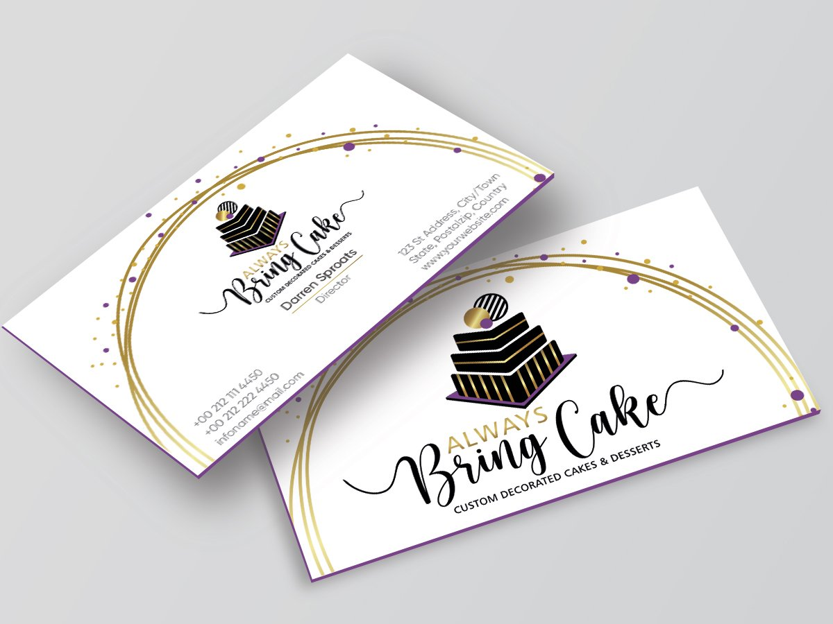 Always Bring Cake logo design by Niqnish